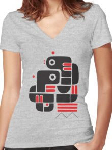 Two lovers, one bench Women's Fitted V-Neck T-Shirt
