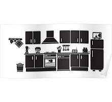 a kitchen Poster