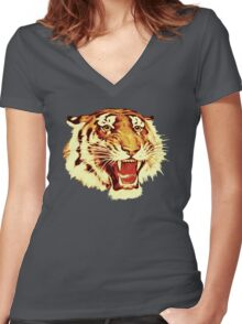 Tiger Circus Women's Fitted V-Neck T-Shirt