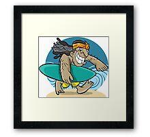beach boy goes to surf Framed Print