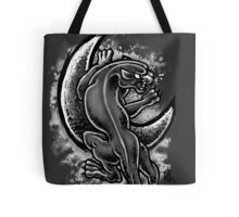 Black and White Moon Panther Tote Bag