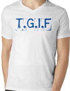 T.G.I.F Mens V-Neck T-Shirt