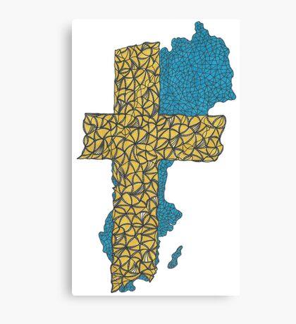 Sweden Flag Canvas Print