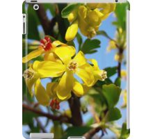 Yellow blooming iPad Case/Skin