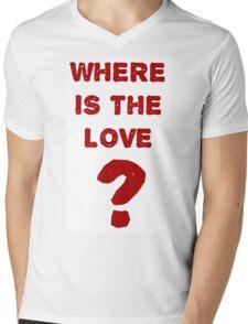 where is the love? Mens V-Neck T-Shirt
