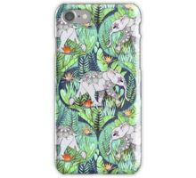 Little Elephant on a Jungle Adventure – faded vintage version iPhone Case/Skin