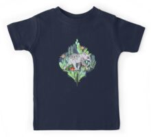 Little Elephant on a Jungle Adventure – faded vintage version Kids Clothes