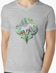 Little Elephant on a Jungle Adventure – faded vintage version Mens V-Neck T-Shirt