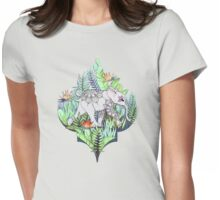 Little Elephant on a Jungle Adventure – faded vintage version Womens Fitted T-Shirt