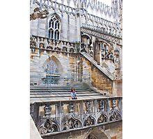 duomo terraces, thousands of sculptures Photographic Print