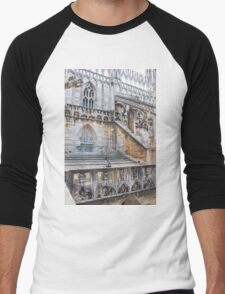 duomo terraces, thousands of sculptures Men's Baseball ¾ T-Shirt