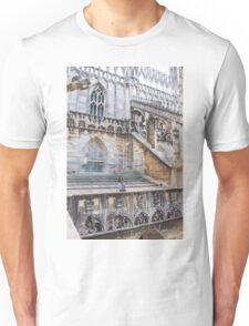 duomo terraces, thousands of sculptures Unisex T-Shirt