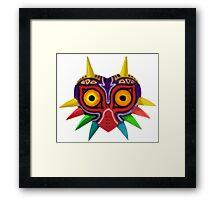 Watercolour majora's mask Framed Print