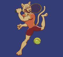 Brave puma smashing a tennis ball by Zoo-co