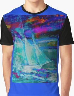 Ghost Ship Abstract Graphic T-Shirt