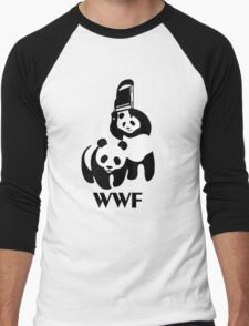 WWF Parody Panda Men's Baseball ¾ T-Shirt