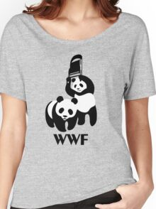 WWF Parody Panda Women's Relaxed Fit T-Shirt