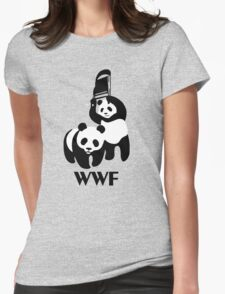 WWF Parody Panda Womens Fitted T-Shirt