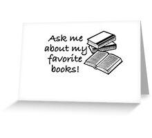 Favorite Books Greeting Card