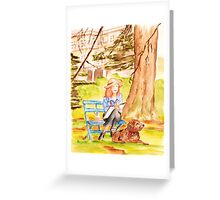 Painting in the Park Greeting Card