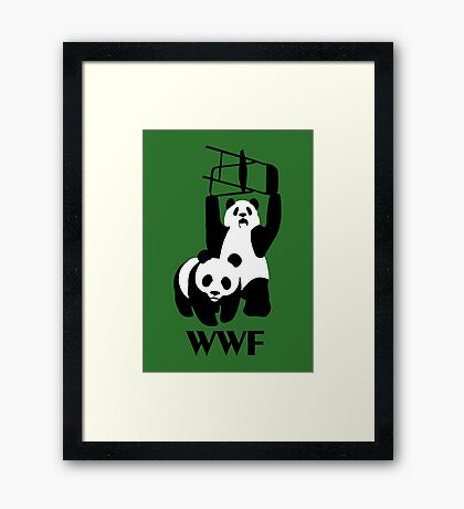 WWF Parody Panda - Tshirt Framed Print