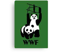 WWF Parody Panda - Tshirt Canvas Print
