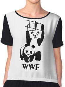 WWF Parody Panda - Tshirt Chiffon Top