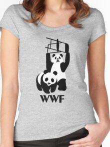 WWF Parody Panda - Tshirt Women's Fitted Scoop T-Shirt