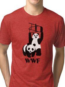 WWF Parody Panda - Tshirt Tri-blend T-Shirt