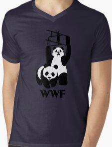 WWF Parody Panda - Tshirt Mens V-Neck T-Shirt