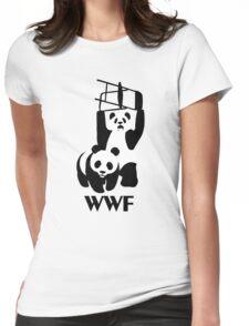 WWF Parody Panda - Tshirt Womens Fitted T-Shirt