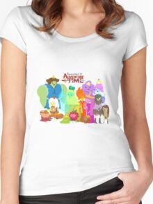 Princesses of Adventure Time! Women's Fitted Scoop T-Shirt
