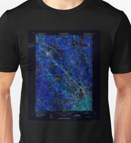 USGS TOPO Map Rhode Island RI Pawtucket 353440 1949 31680 Inverted Unisex T-Shirt