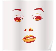 Woman face Poster