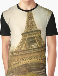 Eiffel Tower and Lamp Post Graphic T-Shirt