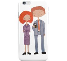 scully & mulder iPhone Case/Skin