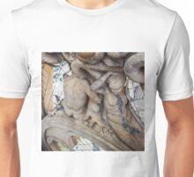 sculptures looking to the plaza. Unisex T-Shirt