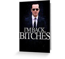 Jim Moriarty - I'm Back (BBC SHERLOCK) Greeting Card