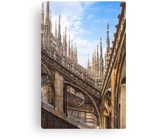 a forest of sculptures. Duomo. Milano. Canvas Print