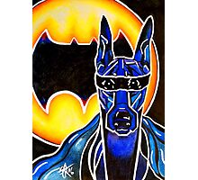 Doberman Super Hero Bat SuperHero Powerful Dog Breed Fun Happy Kids Room Photographic Print