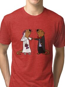 Cool Funny Otters Getting Married Tri-blend T-Shirt