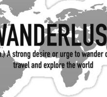 Travel - Wanderlust Definition Sticker