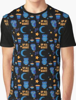 Night Owl Pattern by Holly Shropshire Graphic T-Shirt