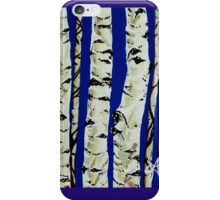 Sleeping Giants Aspen Trees Grove Old Winter Sky Blue White Trunks Strong Powerful iPhone Case/Skin