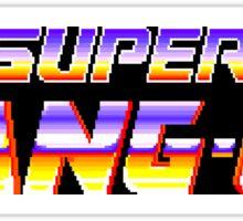 Super Hang-On (Sega Genesis Title Screen) Sticker