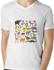 Animals Mens V-Neck T-Shirt