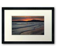 The Sun Sets on the Sea Framed Print