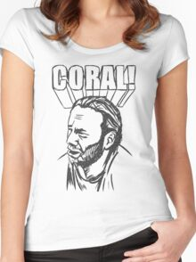 Coral Women's Fitted Scoop T-Shirt