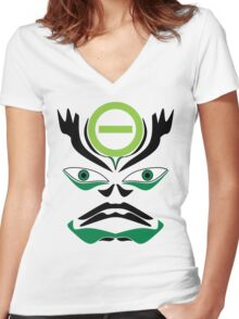 Type O Negative Tribute Mask Women's Fitted V-Neck T-Shirt
