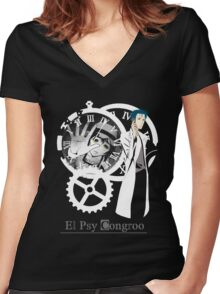Steins;Gate Okarin Women's Fitted V-Neck T-Shirt